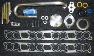 Este es el kit de eliminación de la EGR Gillett Diesel. El kit viene con todo el hardware suministrado y las juntas para completar la instalación.